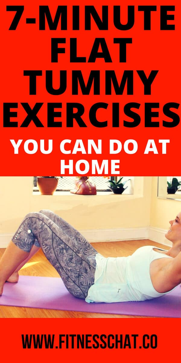 Flat tummy exercises to do at home