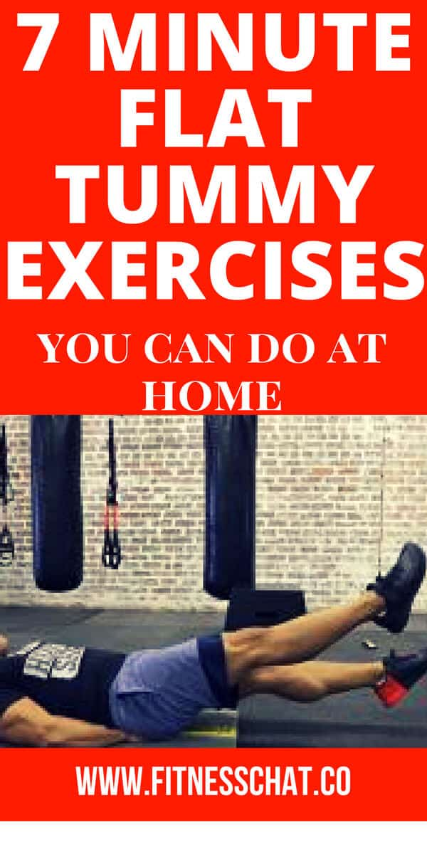 7 minute flat tummy exercises you can do at home