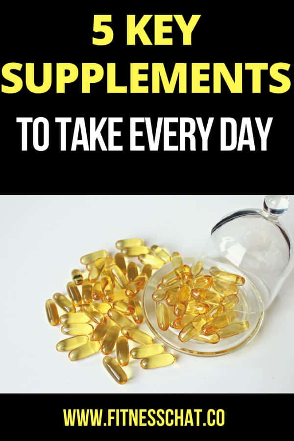 Key supplements to take daily including vitamins and whey protein