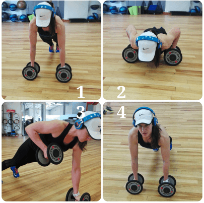 renegade row HIIT workout