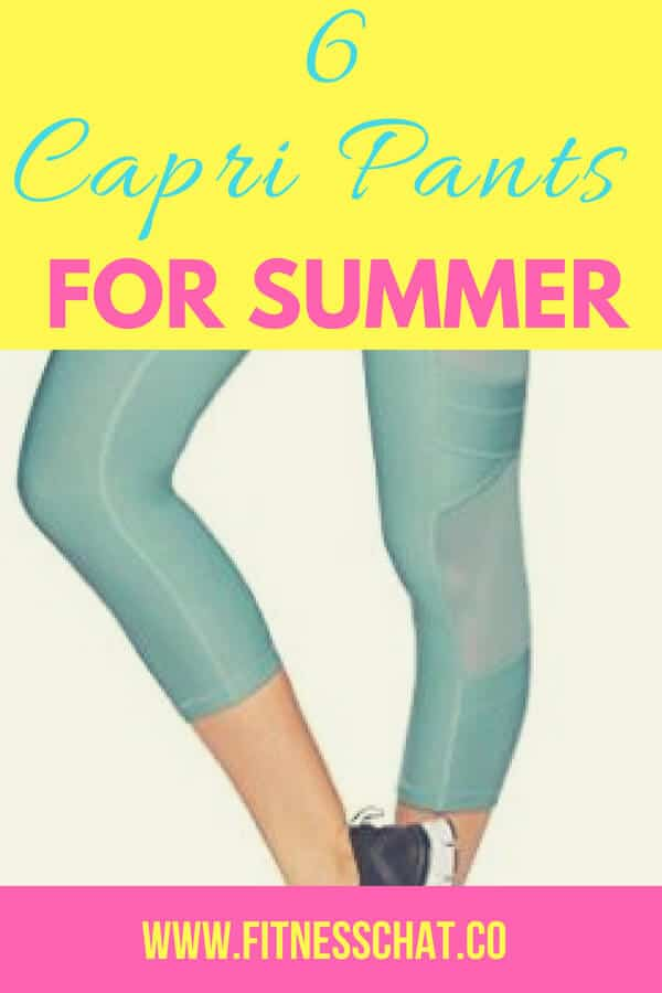 Best workout clothes for summer and the best capri pants