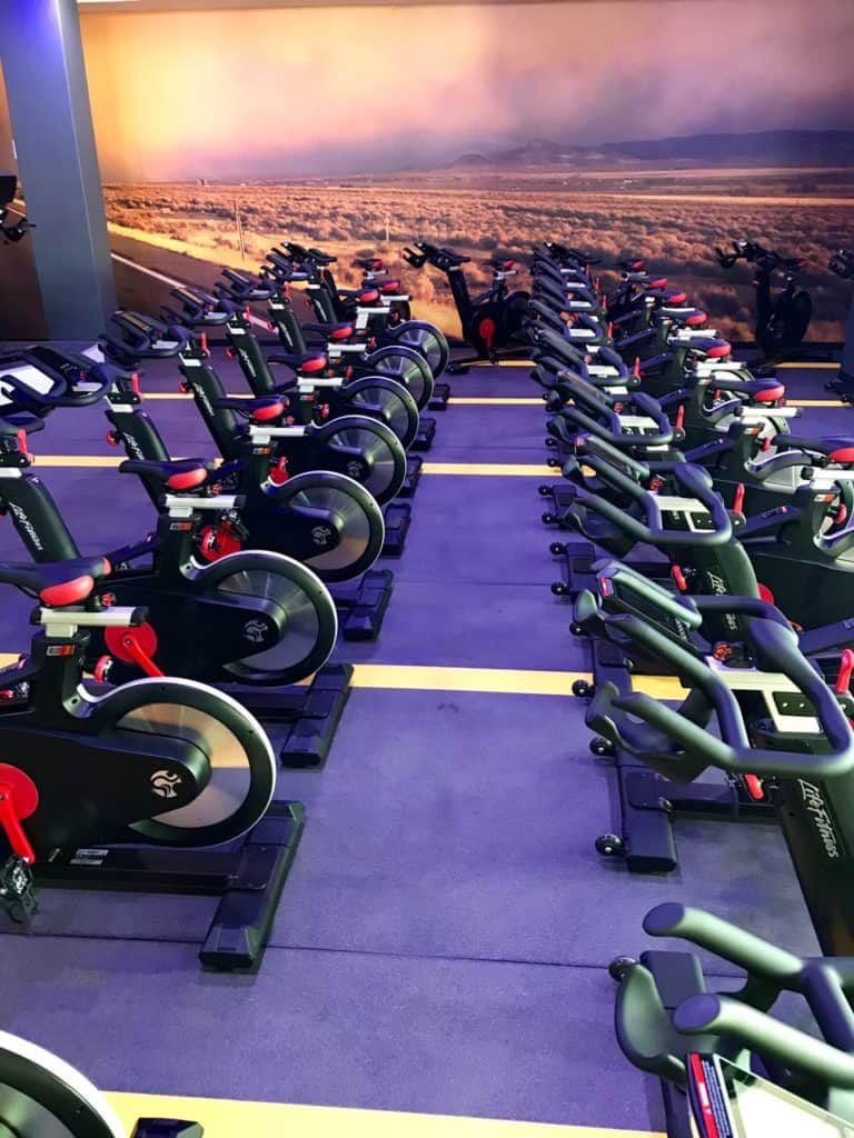 Planet Fitness cycling/spinning studio