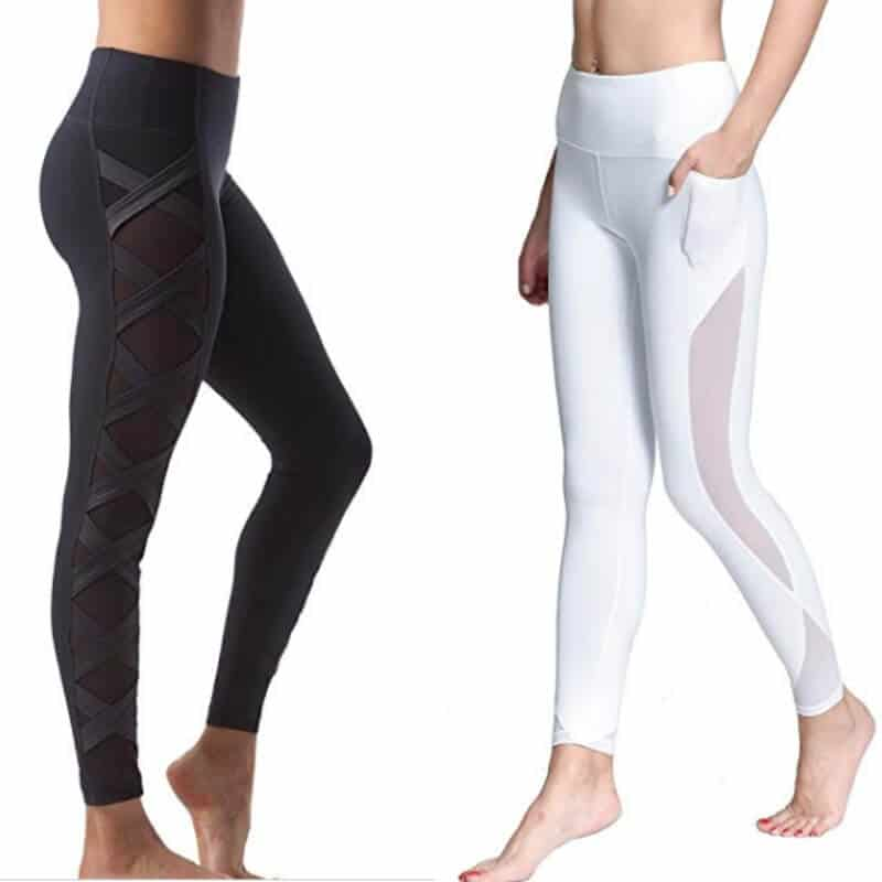 Mesh workout leggings for women