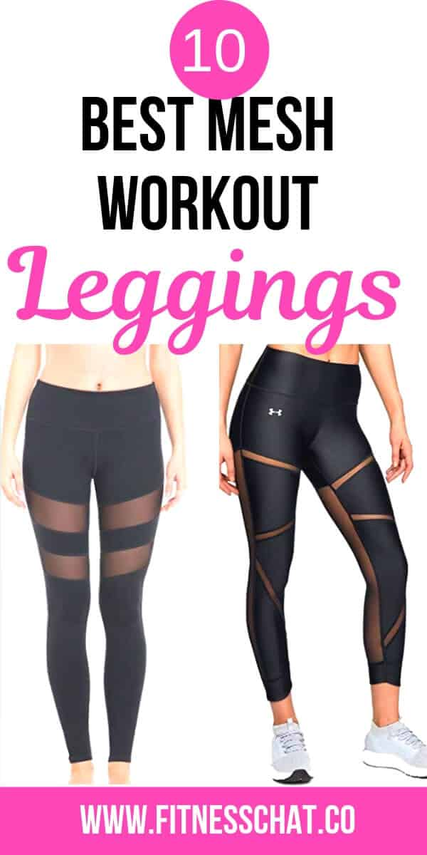 gym mesh leggings with pockets
