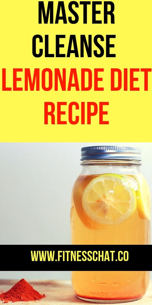 ree master cleanse lemonade diet recipe