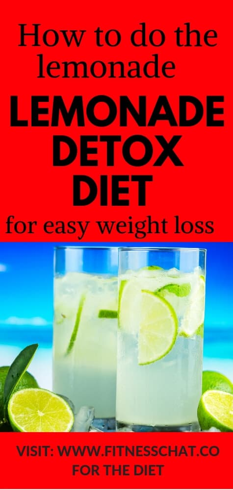 how to do the lemonade detox diet for weight loss